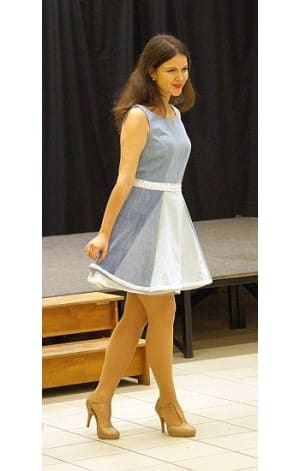 Csipkés pántos ruha alsószoknyával - Rethy Fashion
