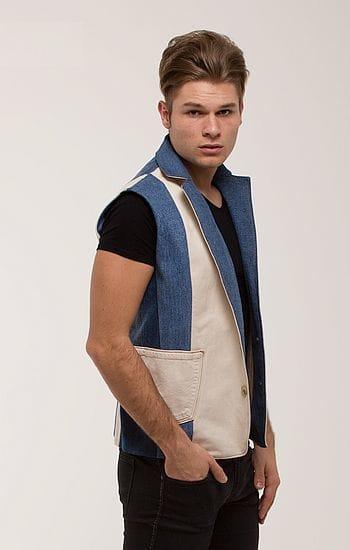Férfi mellény világos - Rethy Fashion