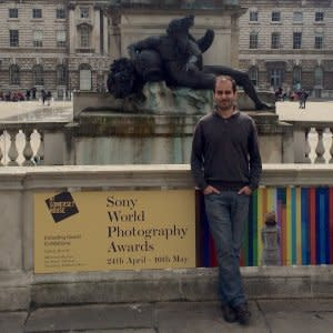Adriano Neves at the Somerset House, SWPA 2015, Somerset House, London, United Kingdom