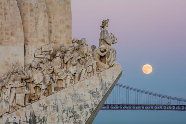 Super Moon over Lisbon II - Portugal, Lisbon