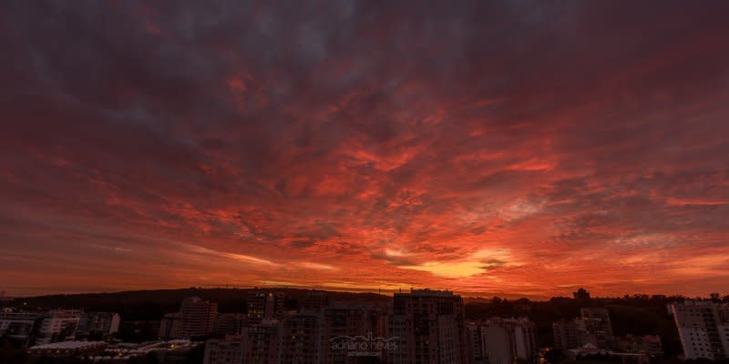 Fire Red Sky - Portugal, Lisbon