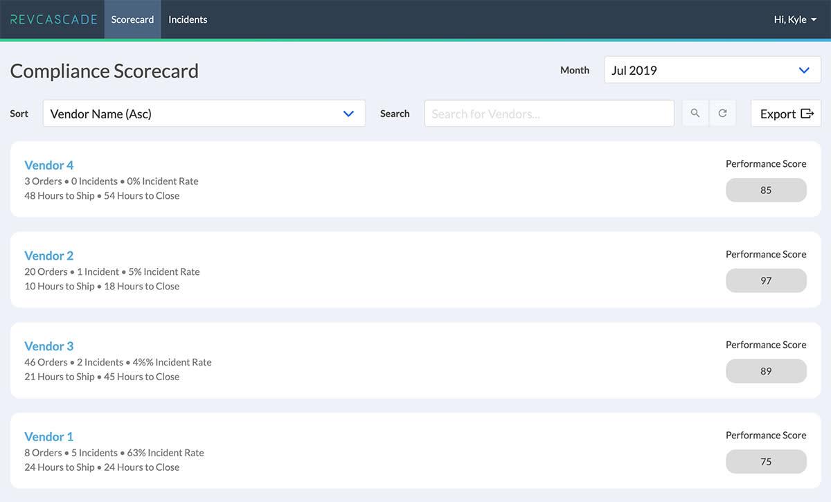 Compliance Application Screenshot