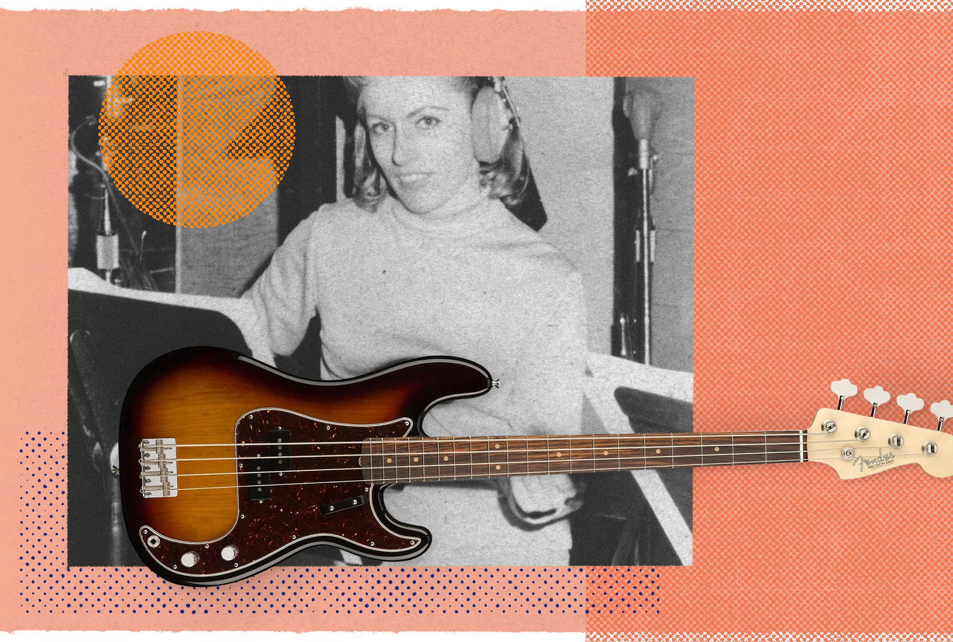 Carol Kaye with the Fender Precision Bass