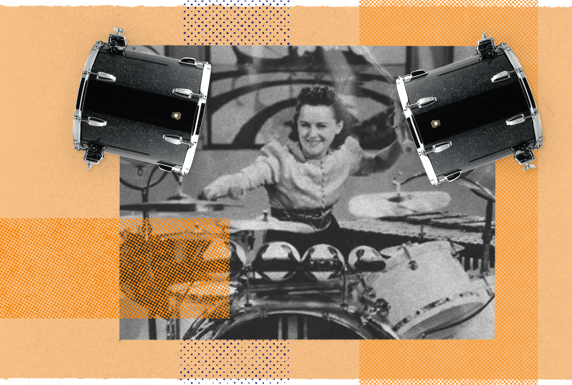 Viola Smith with the WFL/Ludwig Toms