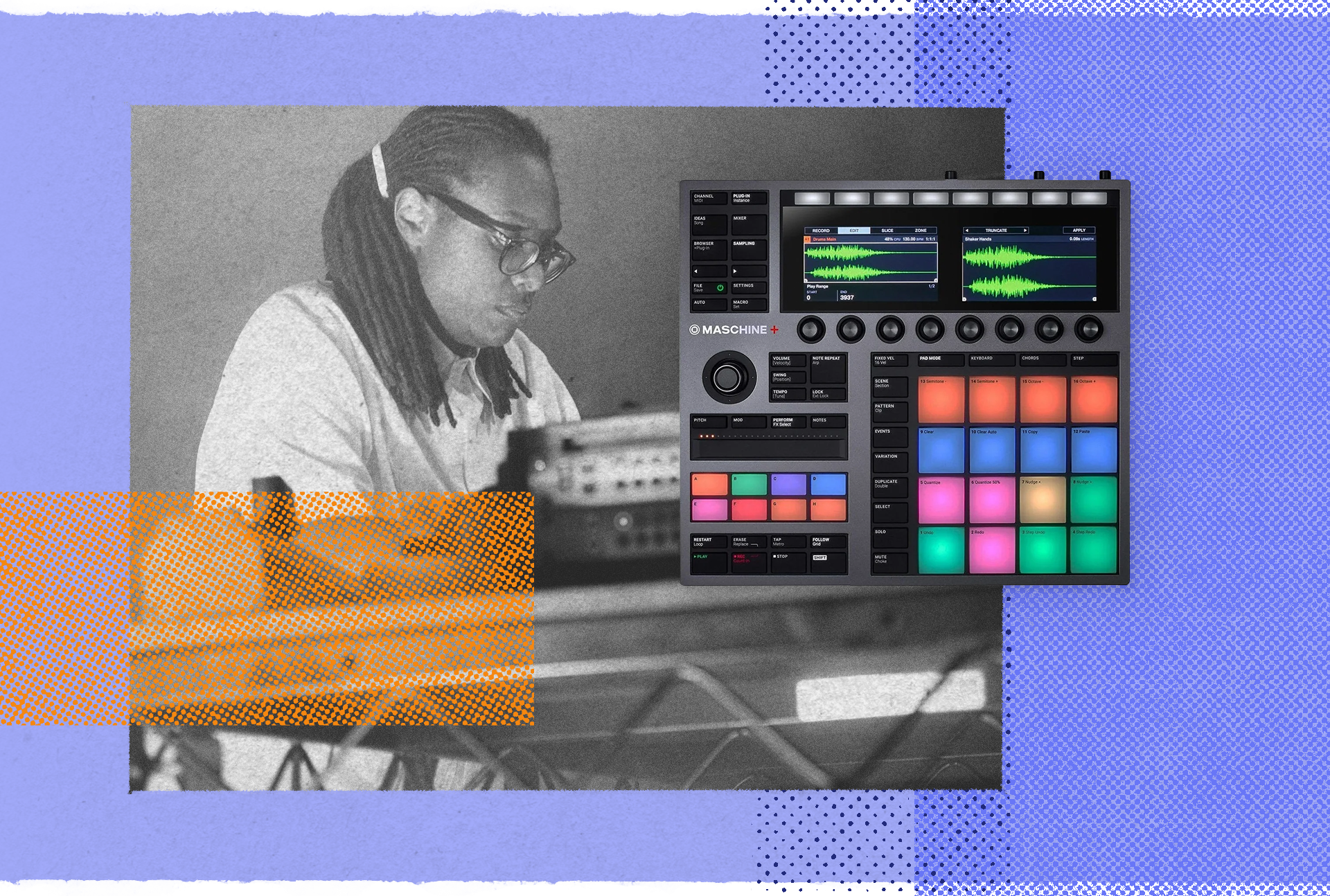 Jlin with the Native Instruments Maschine