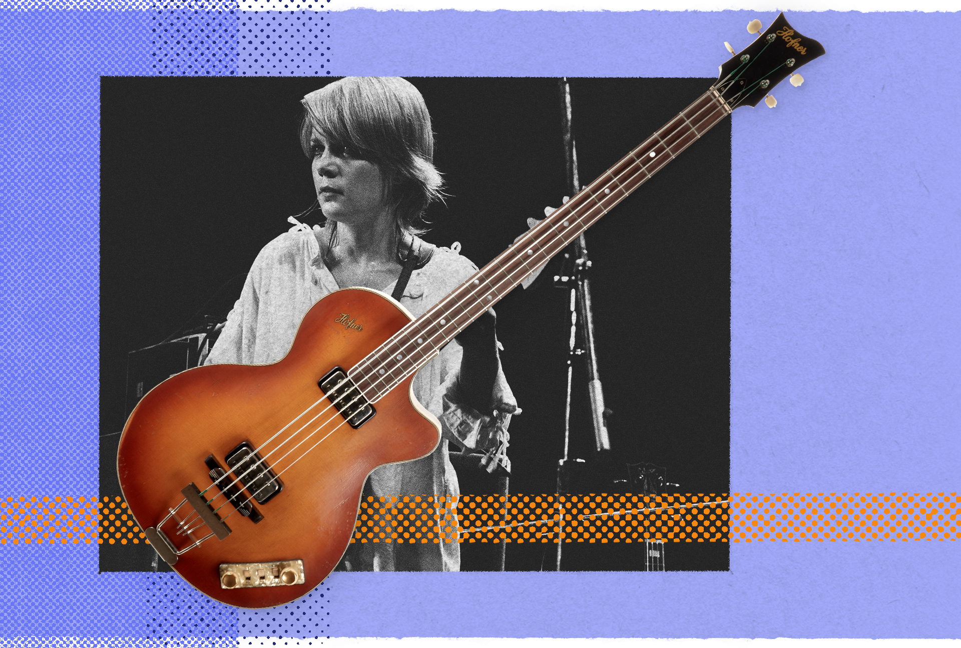 Tina Weymouth with the Hofner 500/2 Club Bass