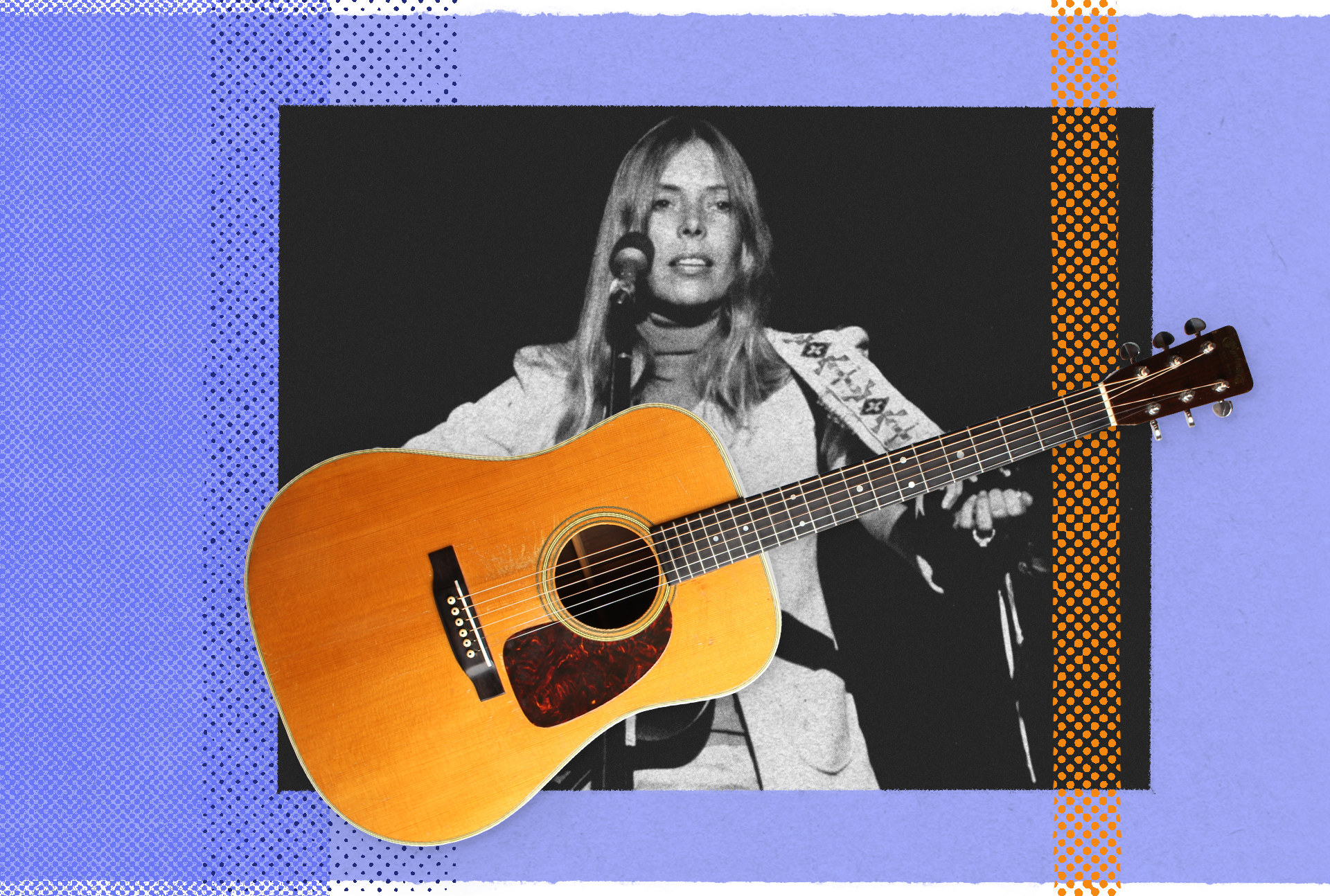 Joni Mitchell with the Martin D-28