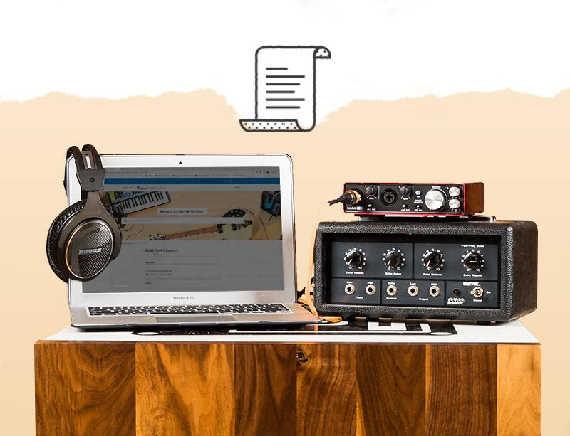 Image of a laptop setup