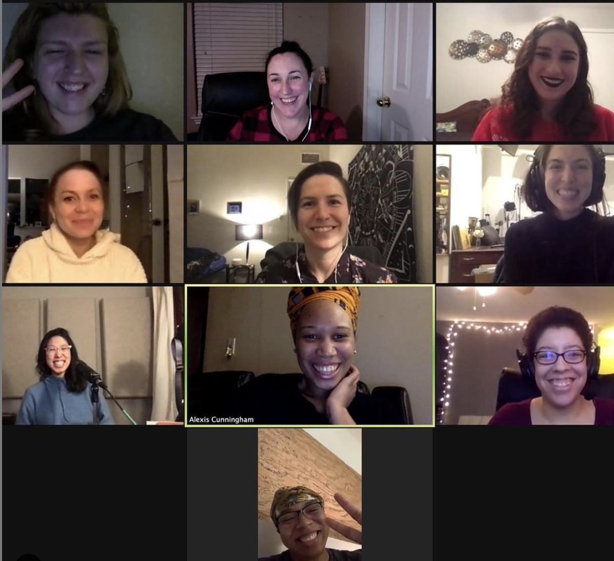 A screenshot of Omni's teachers on Zoom