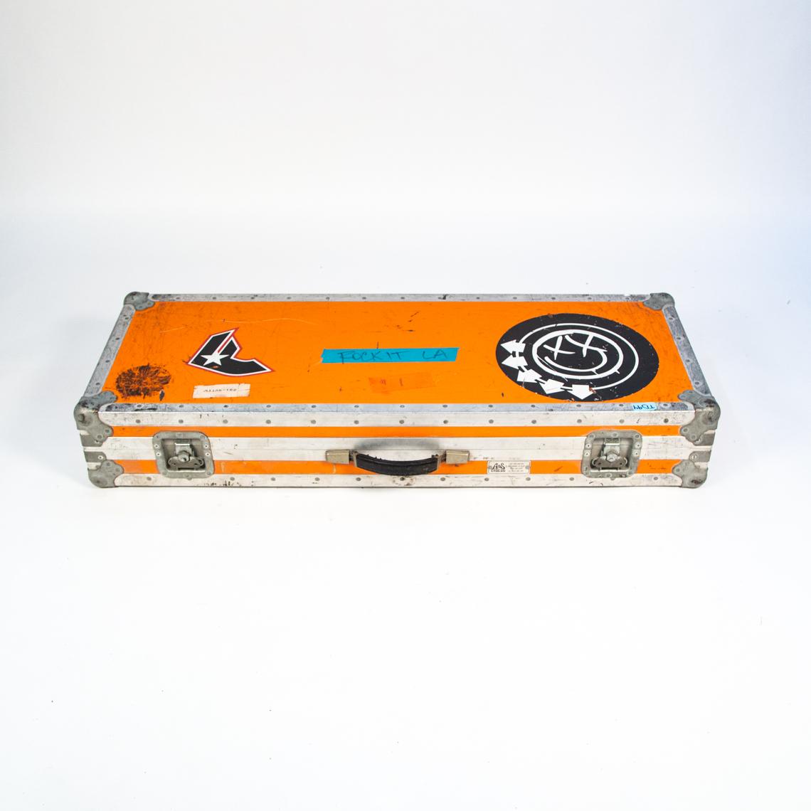 blink-182 guitar flight case