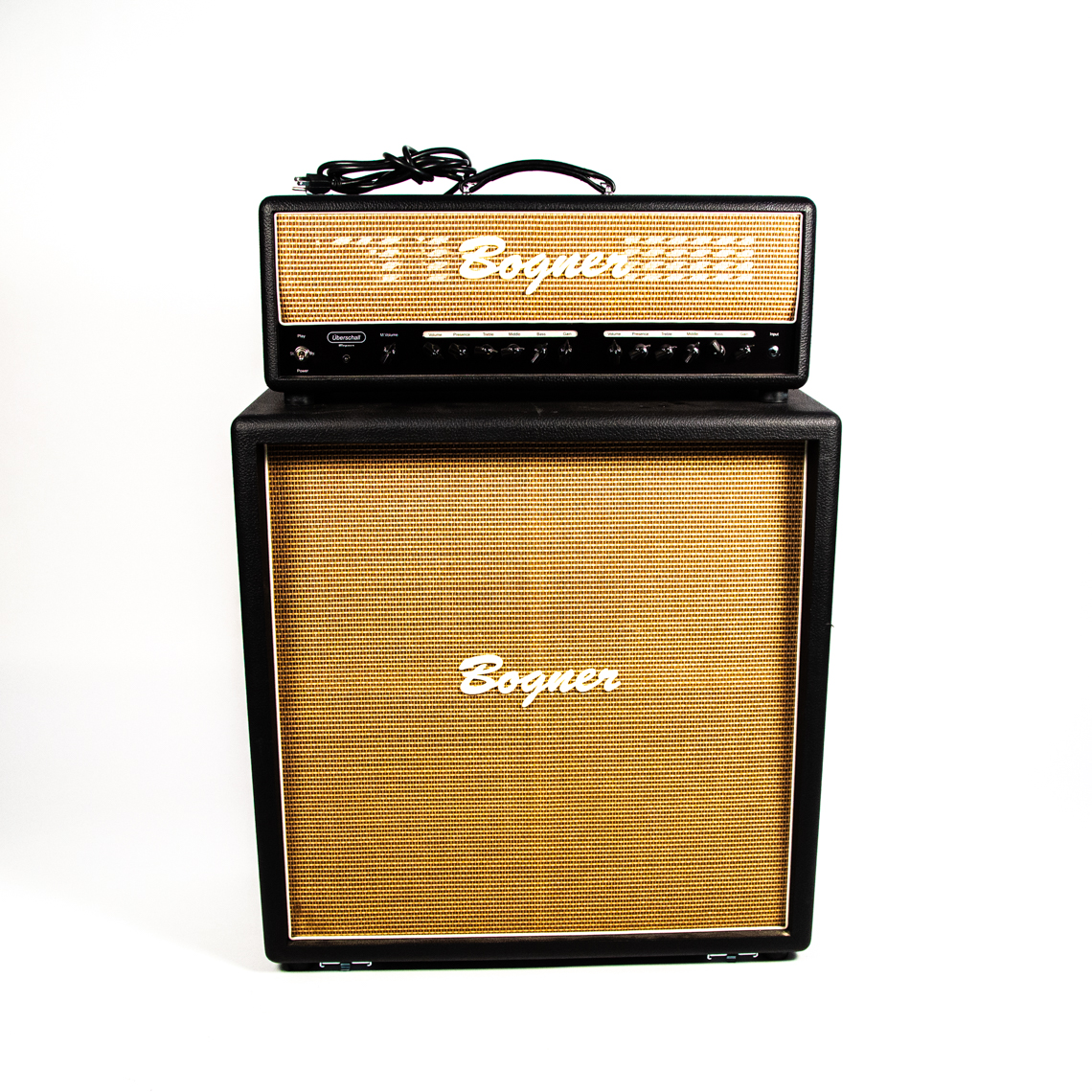 Bogner Uberschall amp head with a 4x12 cabinet