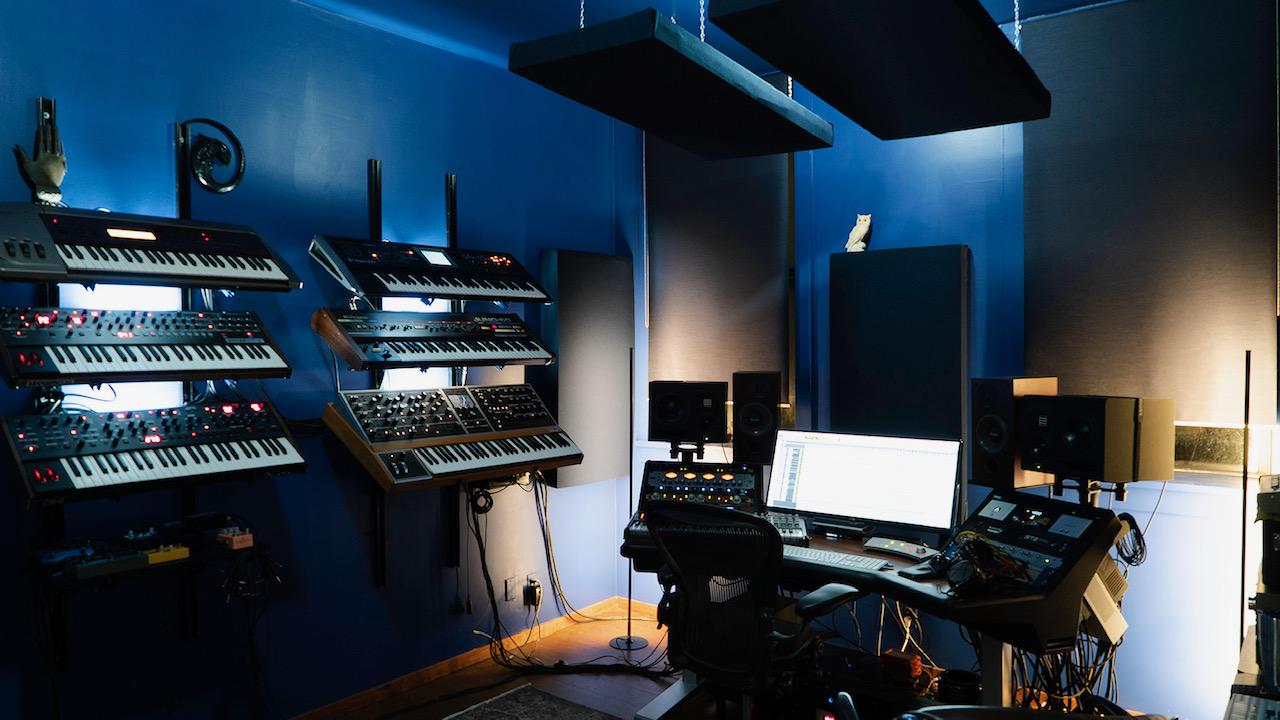 Inside Lopatin and Cohn's studio