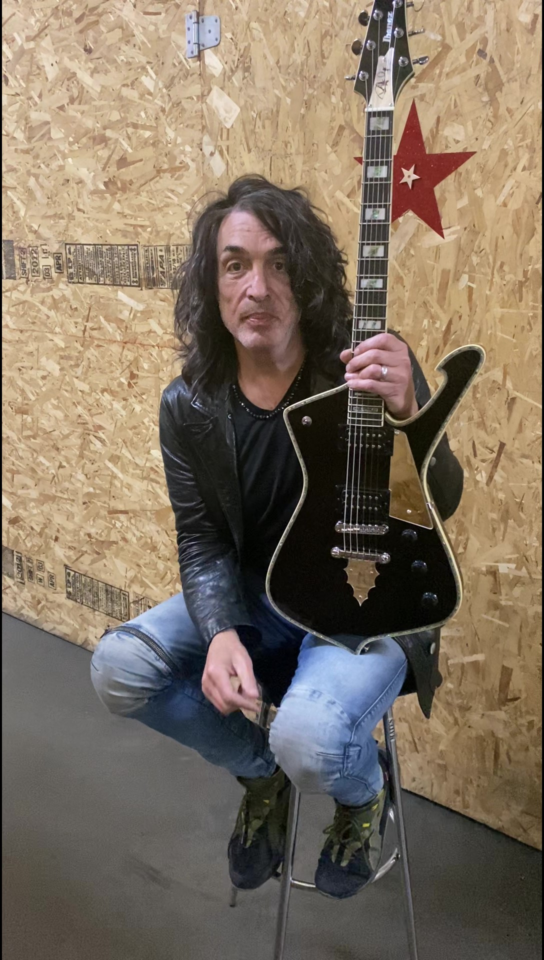 Paul Stanley with his autographed PS Signature