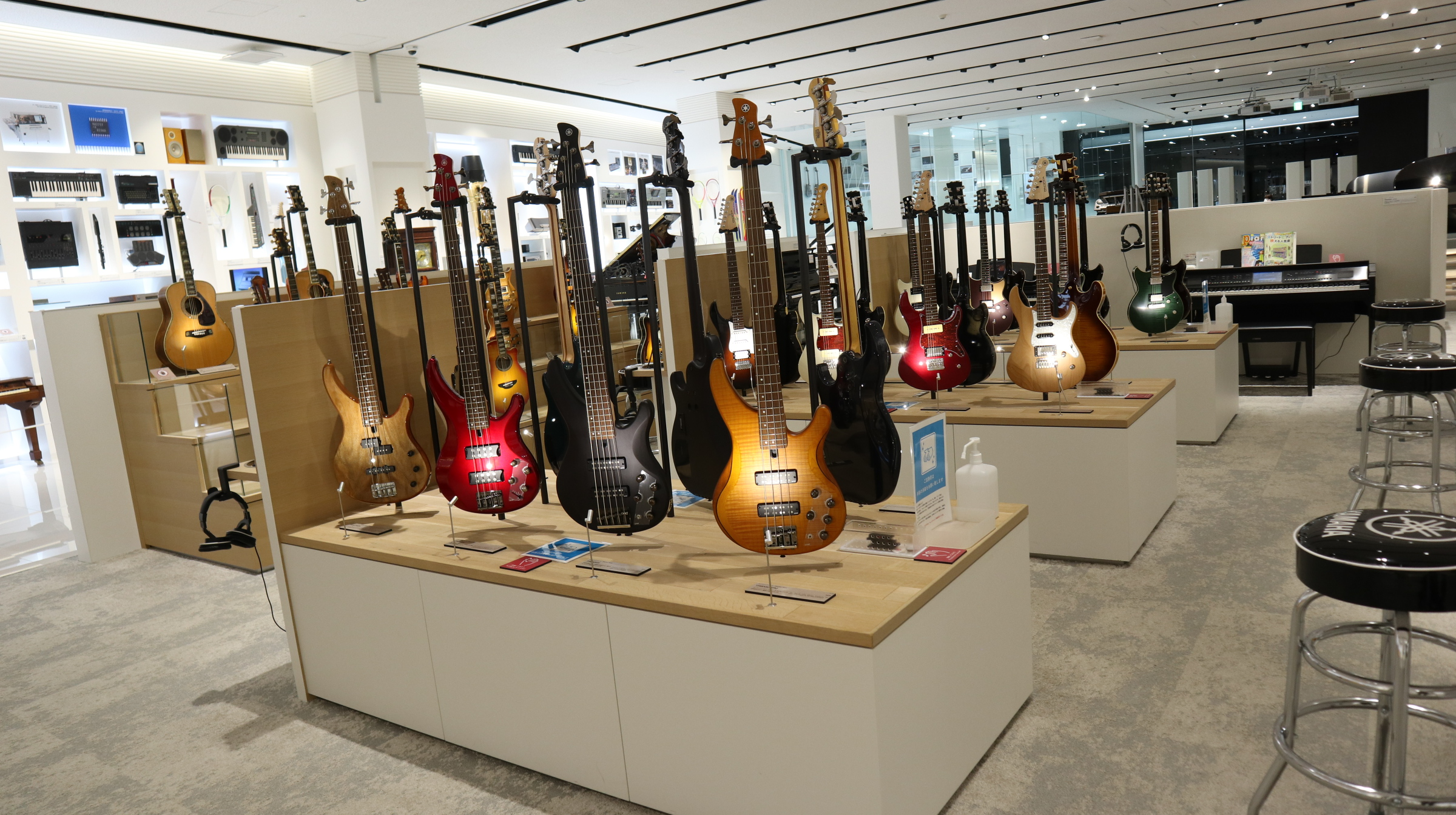 Yamaha electric guitars available to play