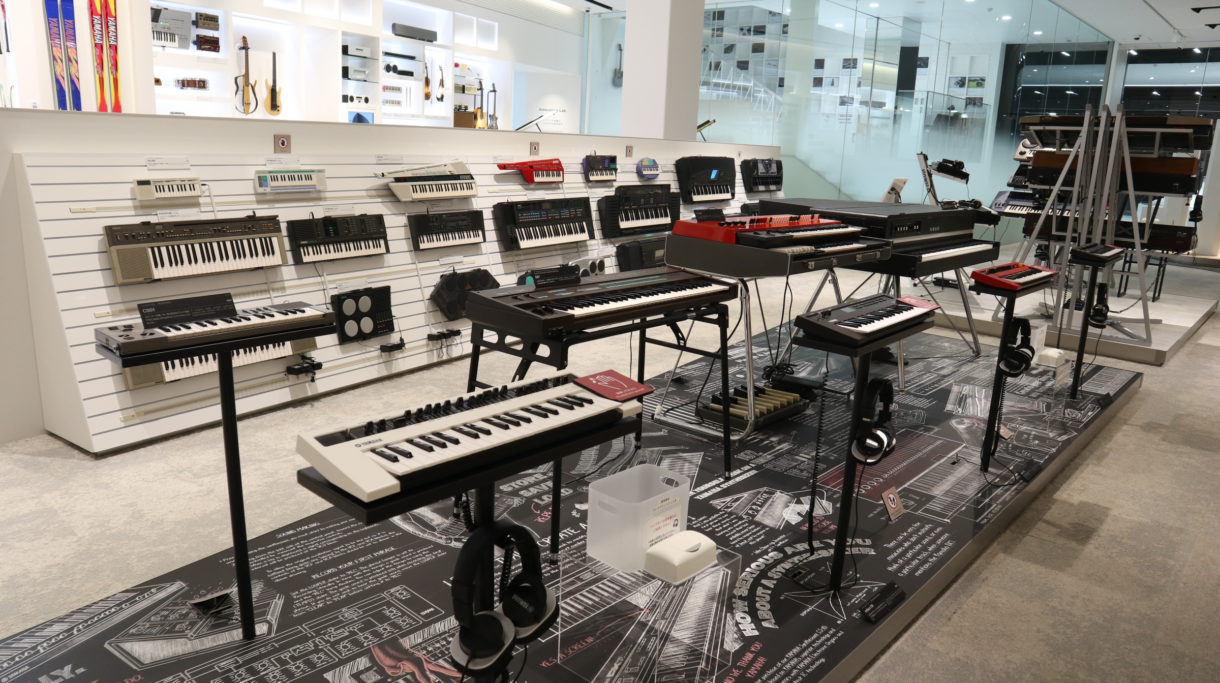 Keyboards, both past and present
