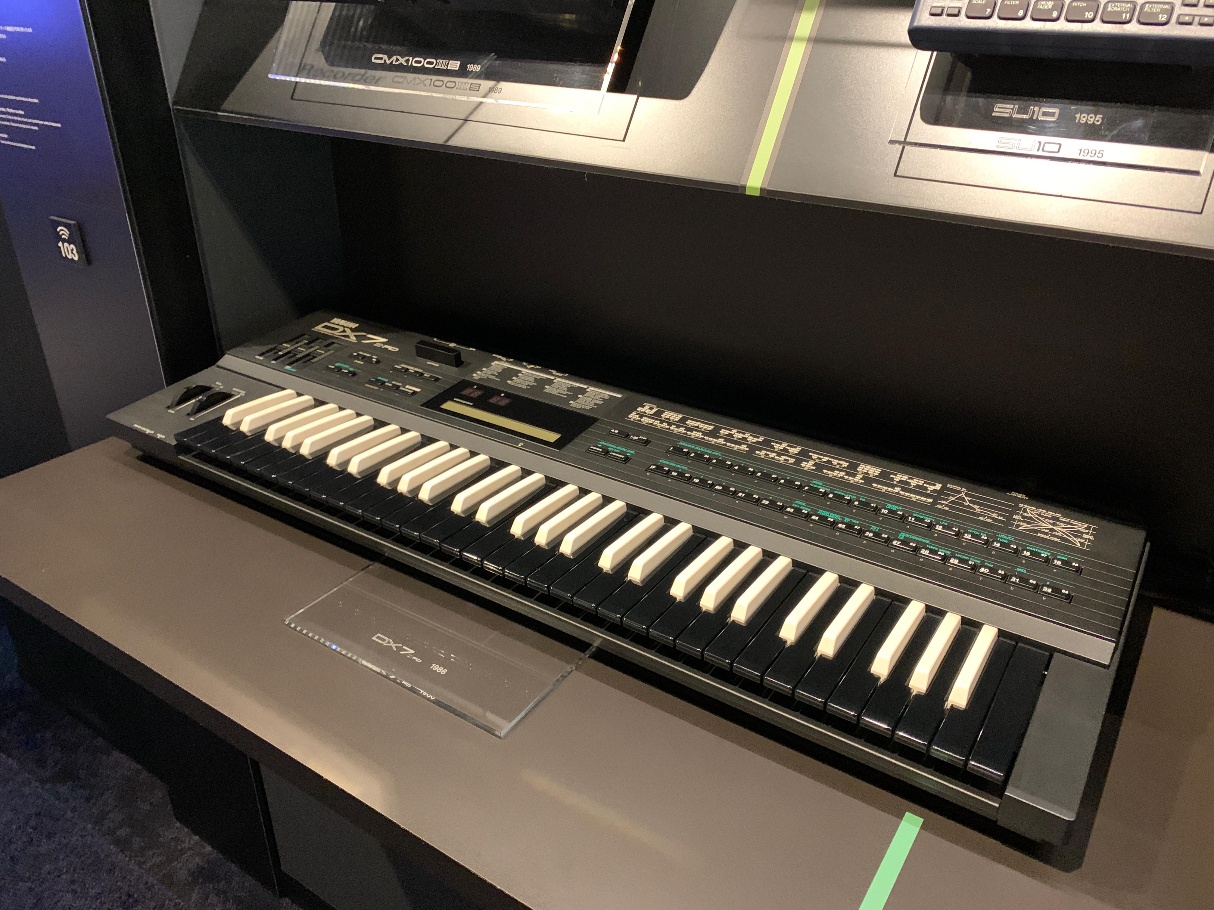 DX7IIFD with reverse keys