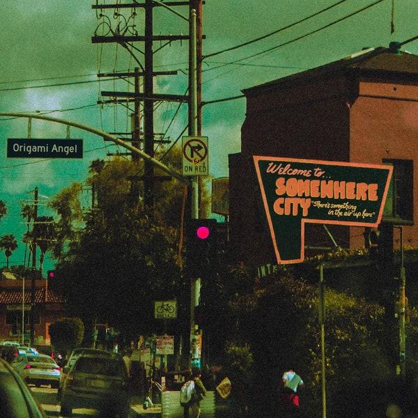 somewhere city album cover