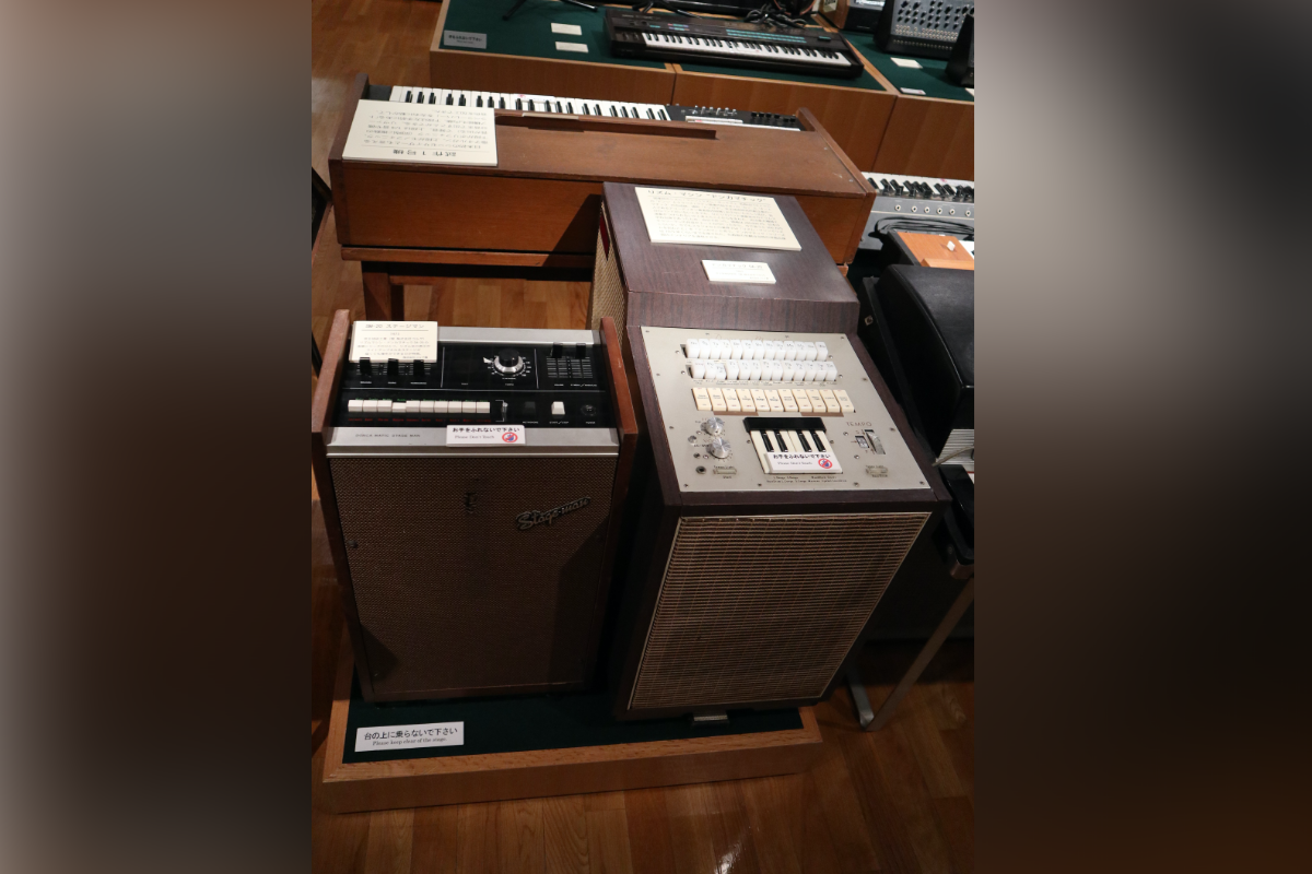 Korg Doncamatic DA-20 Rhythm Synthesizer (right) and SM20 Stage Man (left)