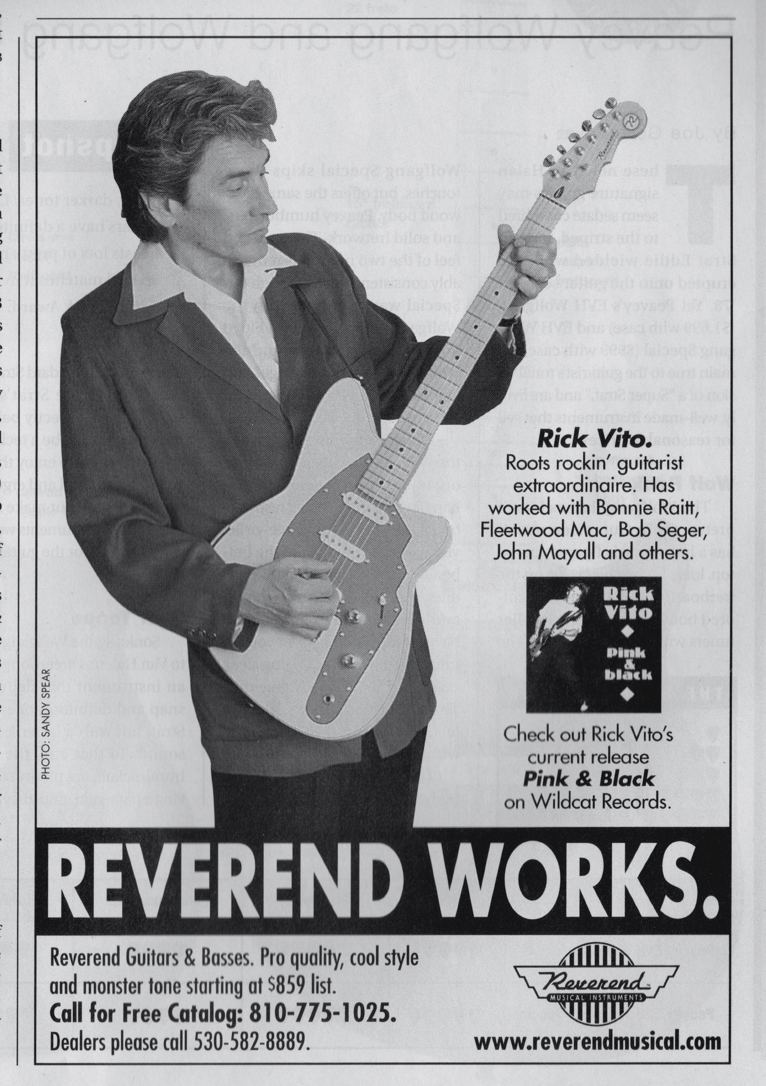 Rick Vito ad, 1999.