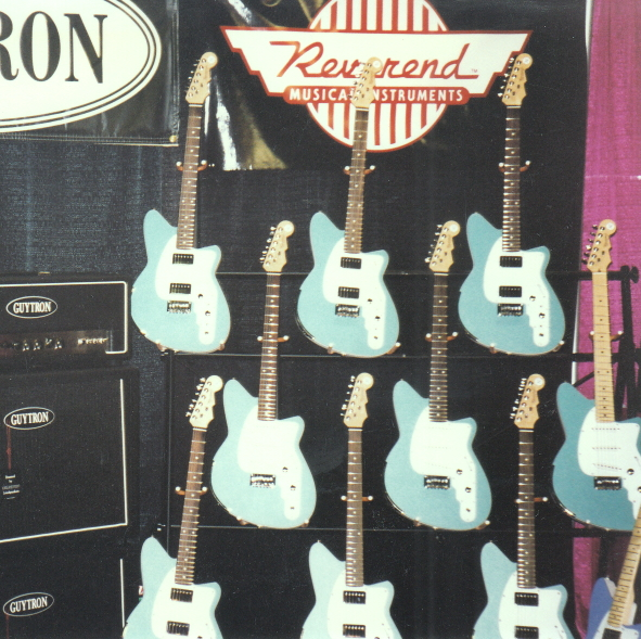 Reverend's first NAMM booth, 1997.