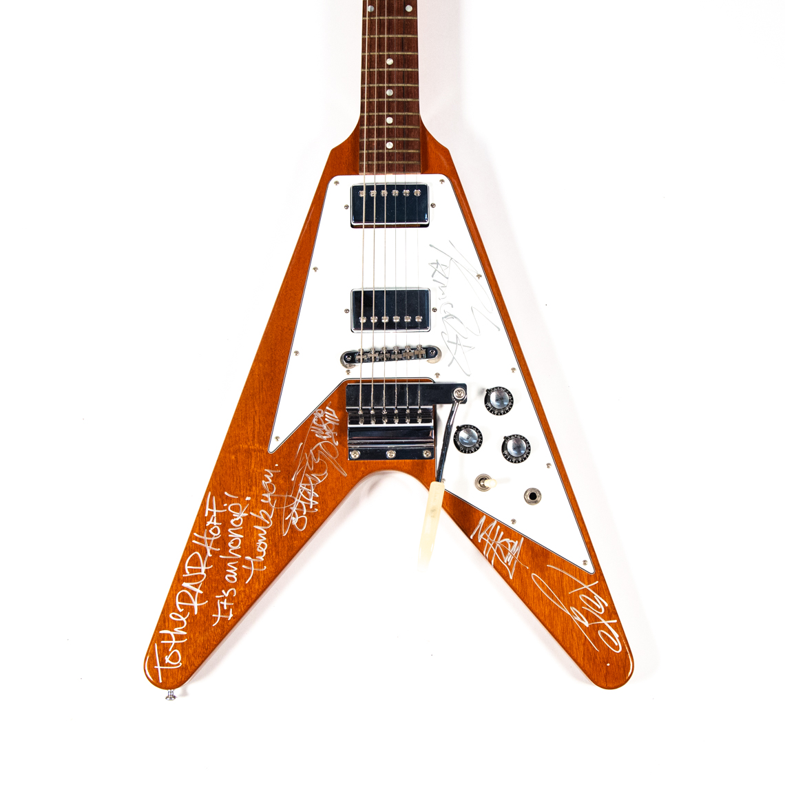 Gibson '67 Flying V autographed by My Chemical Romance