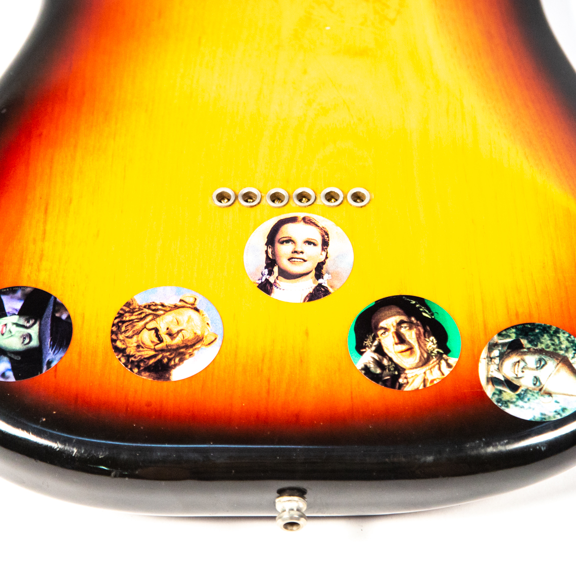 Stickers on the '76 Fender Strat