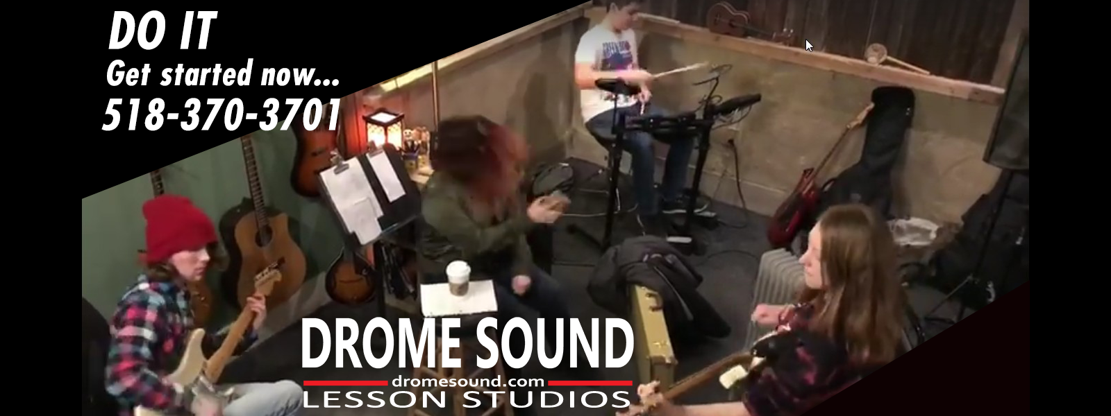Drome Sound is an independent, full line music store, lesson studio