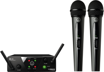 AKG WMS40 Mini2 Vocal Set | Wireless Microphone System (Band US45A/C)