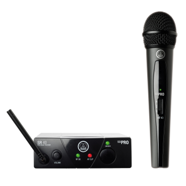 AKG WMS40 Mini Single Vocal Set | Wireless Microphone System (Band US45B)