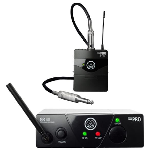 AKG WMS40 Mini Single Instrumental Set | Wireless Microphone System (Band US45A)