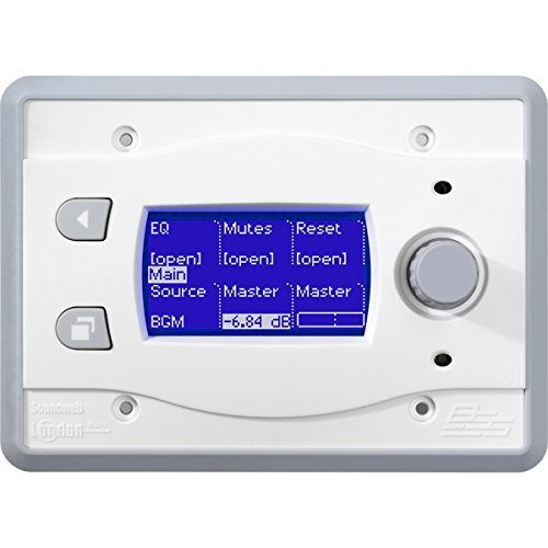 BSS BLU-10-WHT | Touch Screen Programmable Remote Wall Controller White