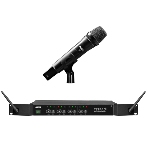 AKG DMSTETRAD Vocal Set P5 (Non-EU) Professional Digital Four Channel Wireless System