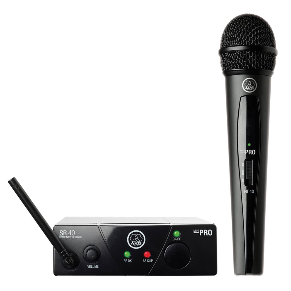AKG WMS40 Mini Single Vocal Set | Wireless Microphone System (Band US45A)