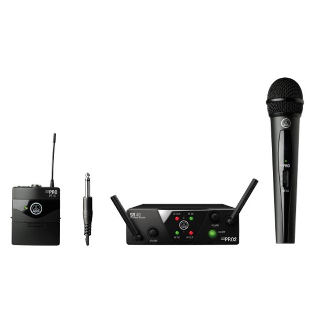 AKG WMS40 Mini Dual Mix Set | Wireless Microphone System (Band US45A/C)
