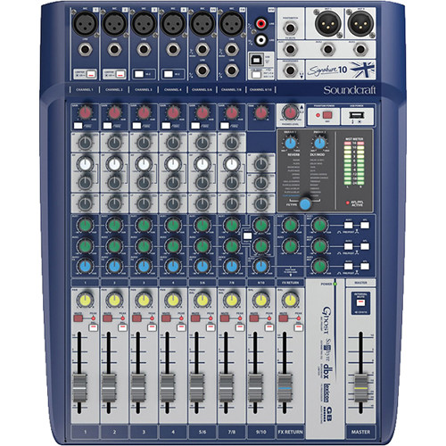 Soundcraft 5049551 | Signature 10, 10-Input Mixer with Effects