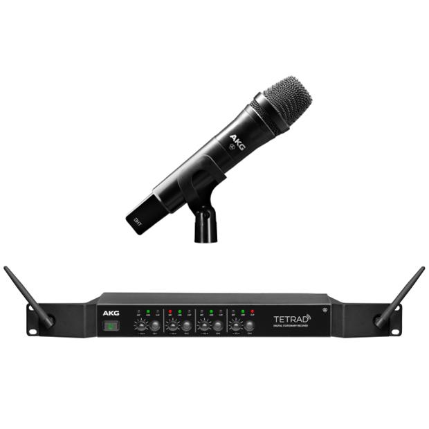 AKG DMSTETRAD Vocal Set D5 (Non-EU) Professional Digital Four Channel Wireless System