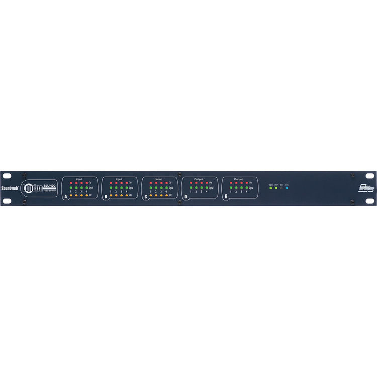 BSS BLU-100 | 12x8 Signal Processor with Digital Audio Bus
