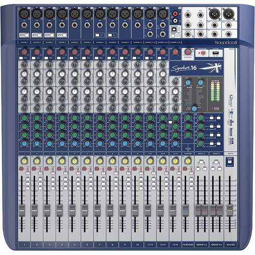 Soundcraft 5049559 | Signature 16, 16-Input Mixer with Effects, Compact Analogue Mixing