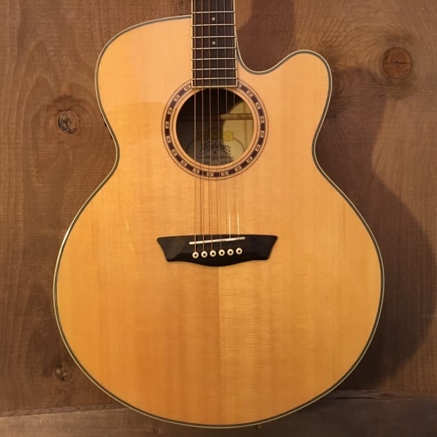 Washburn Heritage 40 Series WJ40SCE Jumbo Cutaway Acoustic