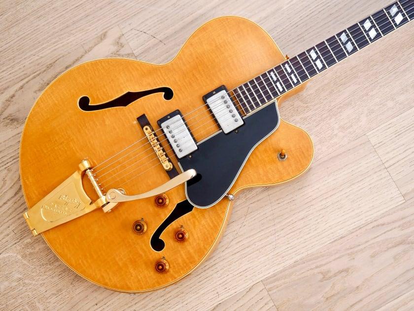 1957 gibson es 350t vintage hollowbody guitar paf pickups bigsby blonde w case. Black Bedroom Furniture Sets. Home Design Ideas