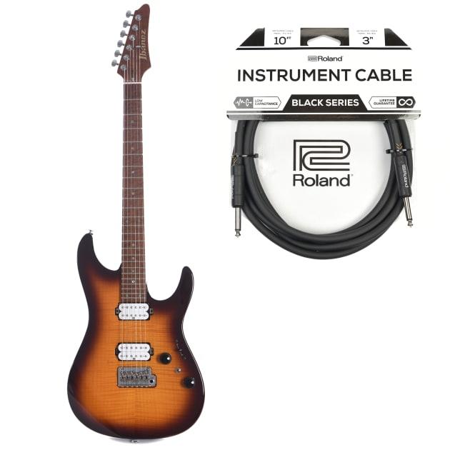 Ibanez AZ2402FF Limited Edition AZ Regal Brown Burst w/Seymour Duncan  Hyperion Pickups Cable Bundle