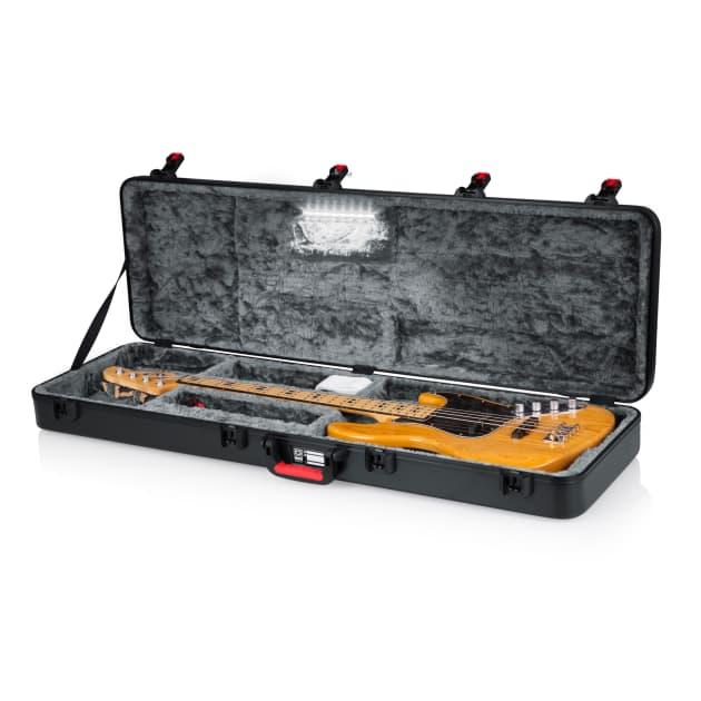b3ce70423cf Gator TSA Series ATA Molded Polyethylene Guitar Case for Bass Guitars; LED  Edition