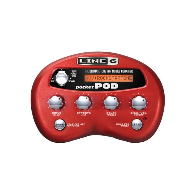 Line 6 Pocket Pod Multi Effects Guitar Processor W Video Link