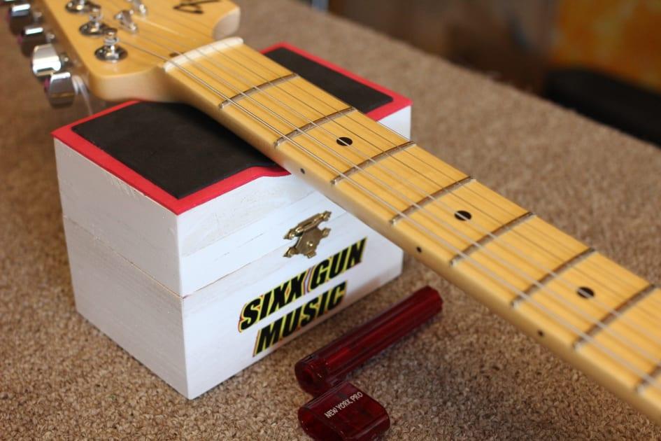 Wood GUITAR NECK REST SUPPORT Gitarrenbauer Setup Tool Für Elektrische Und