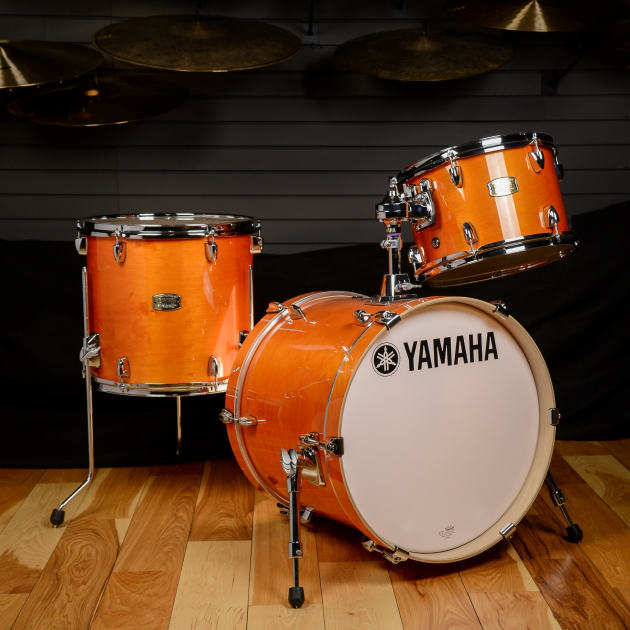yamaha stage custom birch bebop 12 14 18 3pc kit honey amber. Black Bedroom Furniture Sets. Home Design Ideas