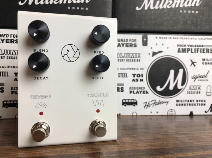 BRAND NEW MILKMAN SOUND F STOP REVERB /& TREMOLO ELECTRIC GUITAR EFFECT PEDAL