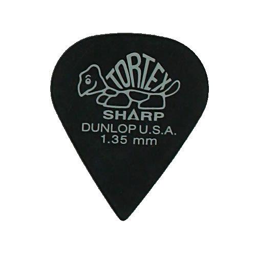 Dunlop Guitar Picks  12 Pack  Tortex Sharp  1.35mm  412P1.35