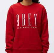 OBEY OBEY INTERNATIONAL NEW Scarlet