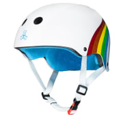Triple 8 THE Certified Sweatsaver Helmet White Gls Rainbow