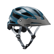 BERN FL-1 Trail Satin Muted Teal w/ Visor - Small Teal